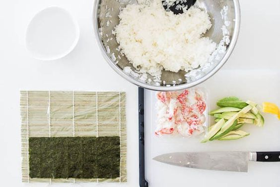 A step-by-step photo tutorial on how to make California rolls: http://norecipes.com/blog/california-roll-recipe/